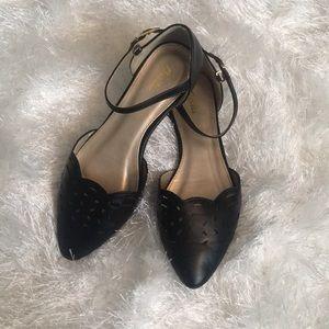 Shoes - Black Cut-Out Flats